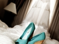 shoes on bed